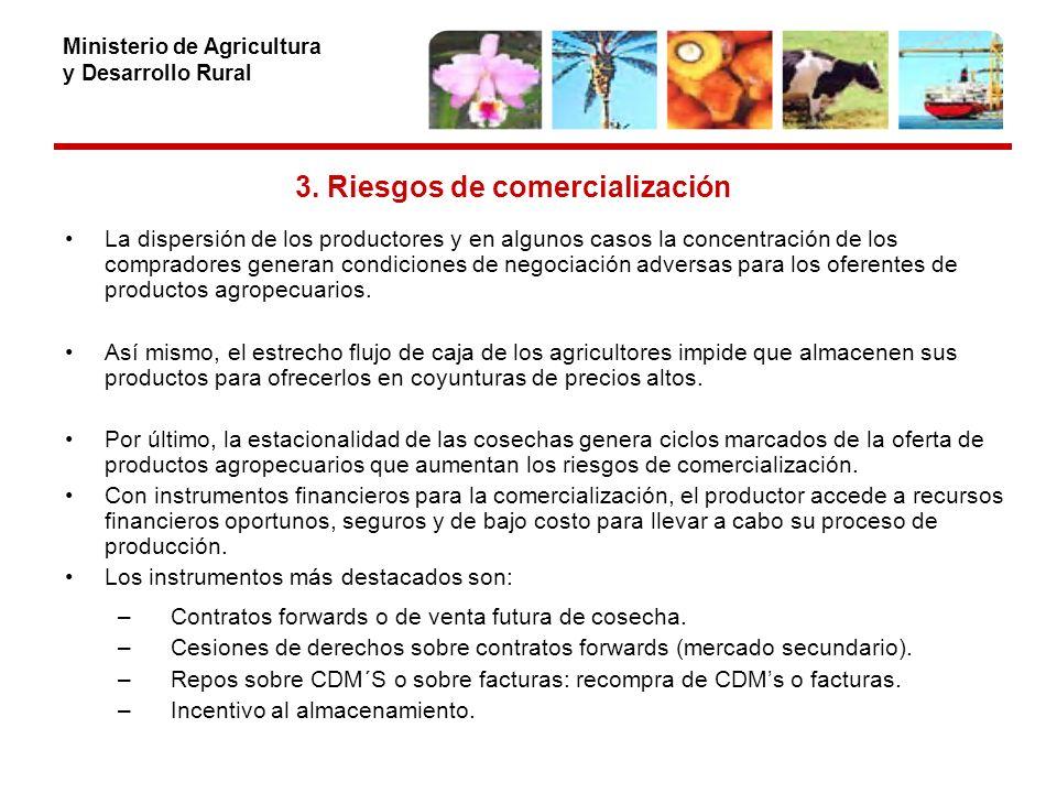 Ministerio de Agricultura y Desarrollo Rural 3.