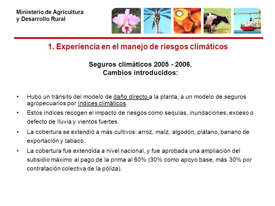 Ministerio de Agricultura y Desarrollo Rural 4.