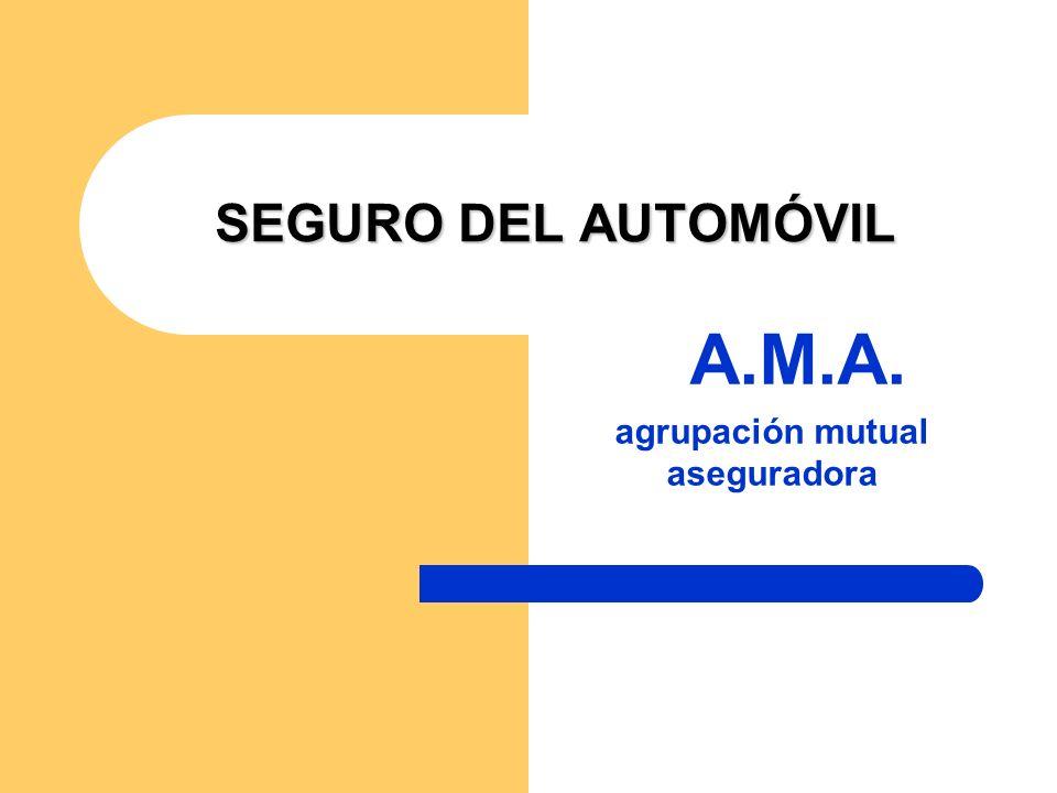 SEGURO DEL AUTOMÓVIL A.M.A. agrupación mutual aseguradora