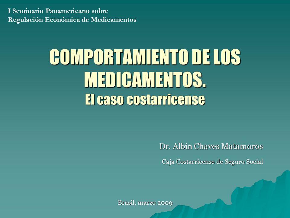 COMPORTAMIENTO DE LOS MEDICAMENTOS.El caso costarricense Dr.