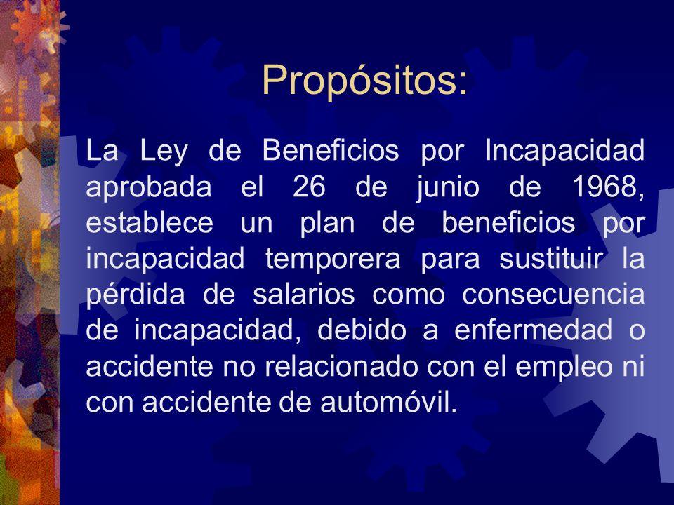 SEGURO POR INCAPACIDAD NO OCUPACIONAL (SINOT) Ley 139 de 30 de junio de 1968, según enmendada