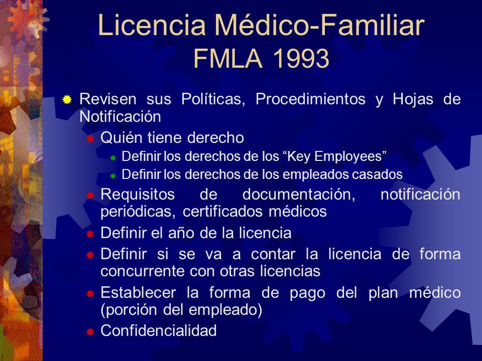 Licencia Médico-Familiar FMLA 1993 NOTIFICACION DEL PATRONO POSTING EN EL MANUAL DEL EMPLEADO O CONVENIO COLECTIVO INDIVIDUALIZADO CUANDO SE UTILICE L