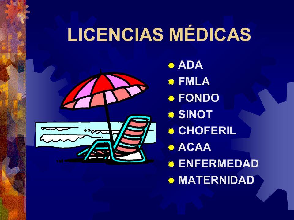 Un empleado no puede ser penalizado por tomar licencias establecidas por el patrono o por ley. Santiago v. Kodak Cuando aplican varias leyes o polític