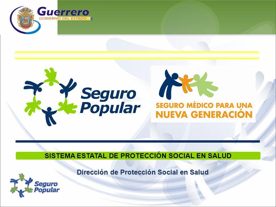 Dirección de Protección Social en Salud SISTEMA ESTATAL DE PROTECCIÓN SOCIAL EN SALUD