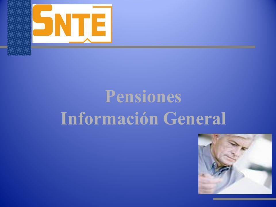Pensiones Información General