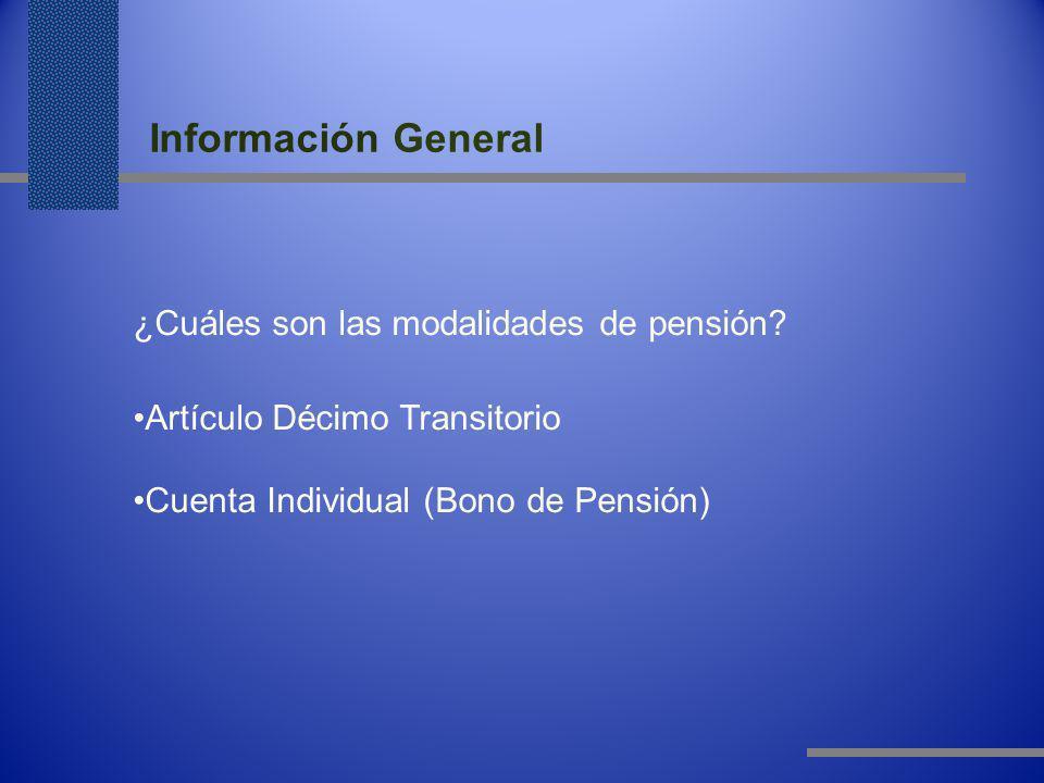 Información General ¿Cuáles son las modalidades de pensión.