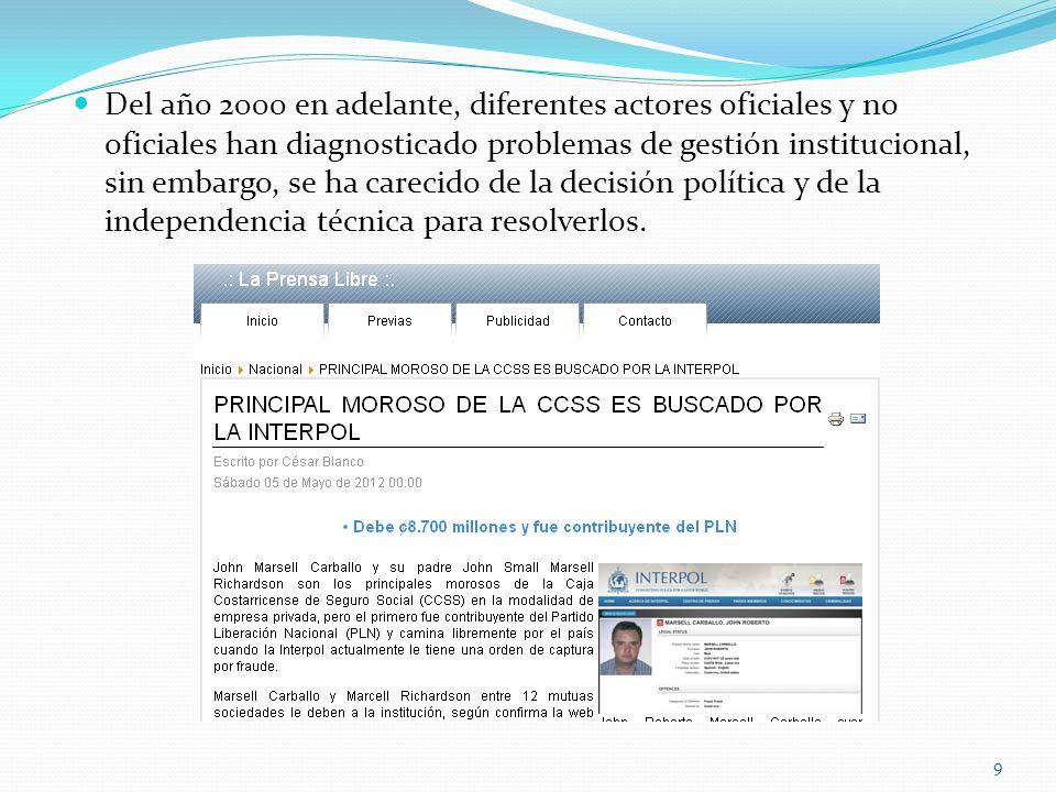 Otros Evaluar las Juntas de Salud como mecanismo idóneo para garantizar la participación de la población usuaria.