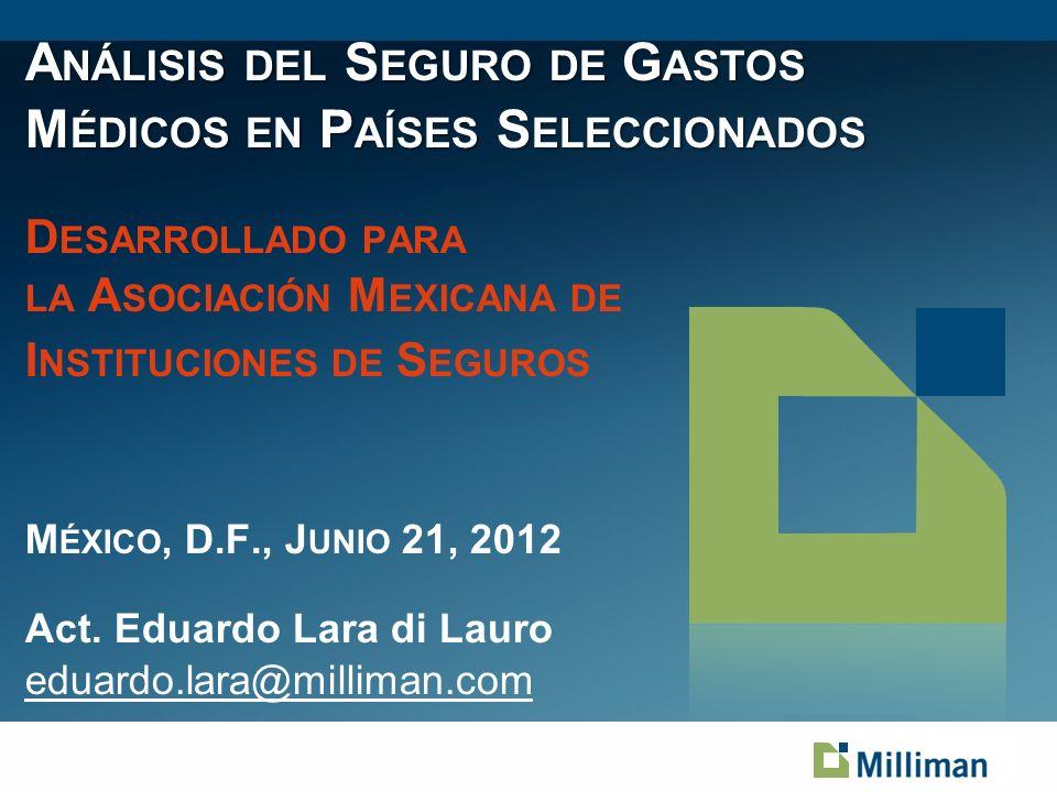 22 México Sistema de Salud: Universal, cobertura por grupo social: Asalariados Formales (SS) muy amplia (total); Informales y Bajos Recursos (Servicios Esenciales CAUSES).