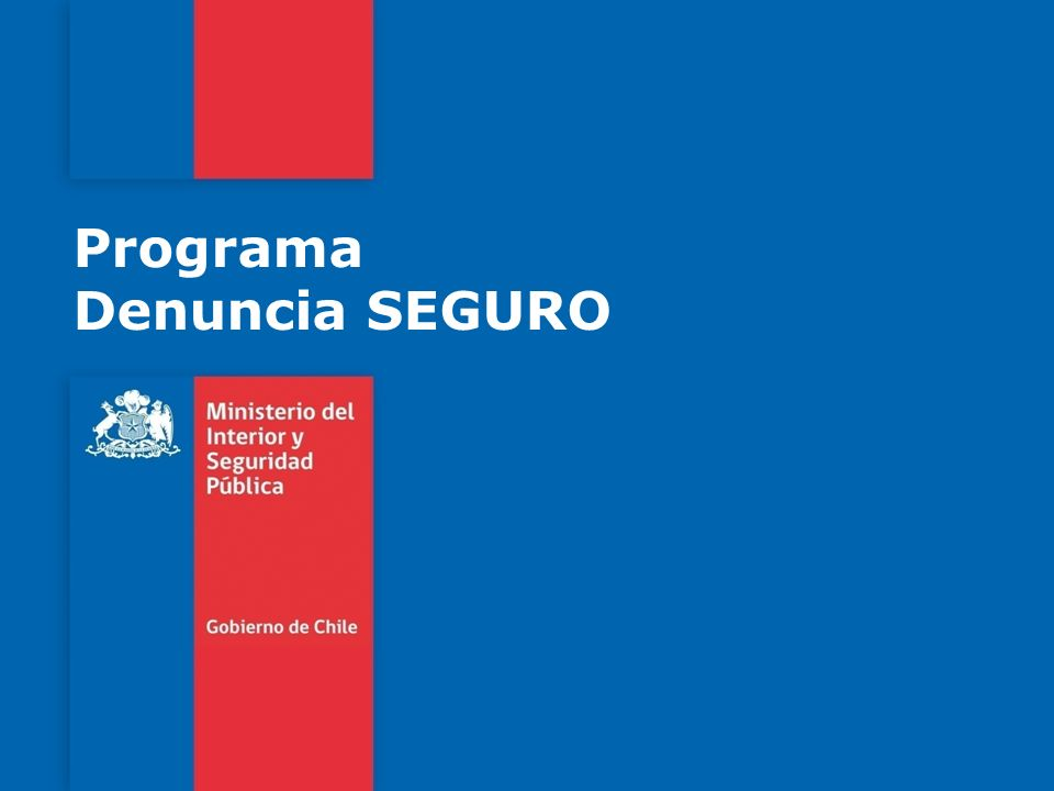 Programa Denuncia SEGURO