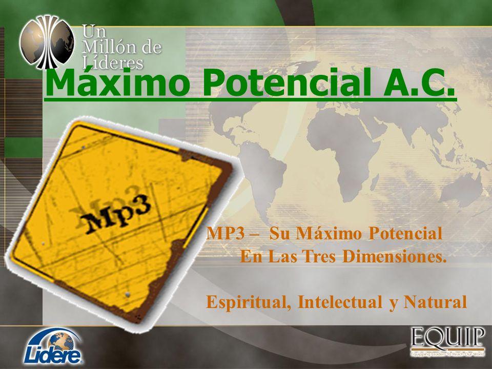 Máximo Potencial A.C. MP3 – Su Máximo Potencial En Las Tres Dimensiones. Espiritual, Intelectual y Natural