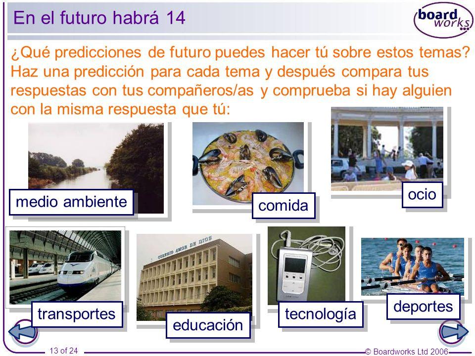 © Boardworks Ltd 2006 14 of 24 En el futuro habrá 15