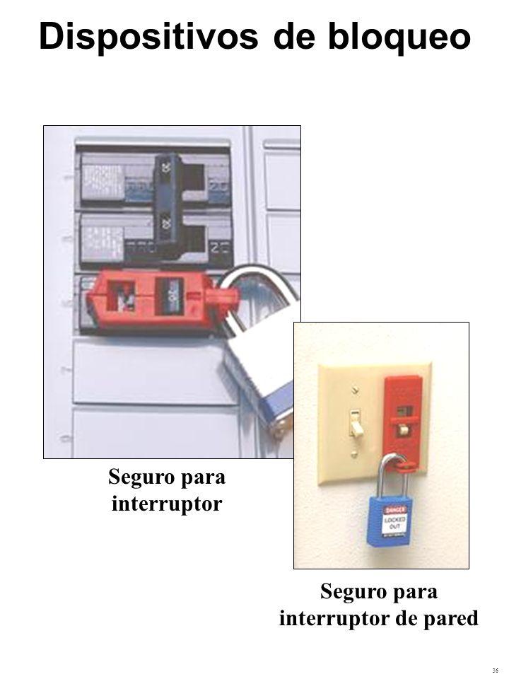 37 Seguro de enchufe Equipo para bloqueo y etiquetado Dispositivos de bloqueo