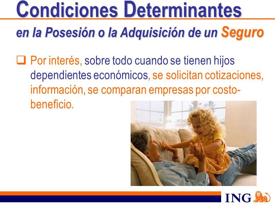Por interés, sobre todo cuando se tienen hijos dependientes económicos, se solicitan cotizaciones, información, se comparan empresas por costo- benefi