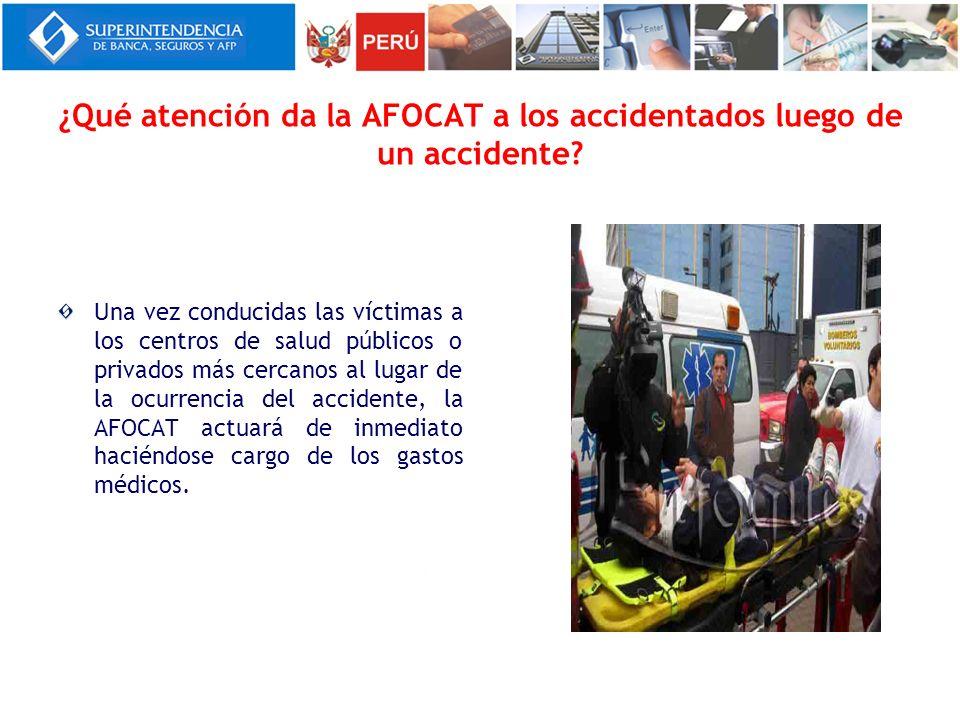 ¿Qué atención da la AFOCAT a los accidentados luego de un accidente? Una vez conducidas las víctimas a los centros de salud públicos o privados más ce