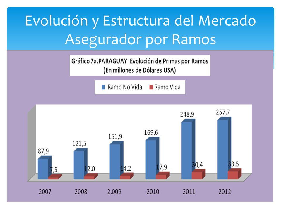 Evolución y Estructura del Mercado Asegurador por Ramos