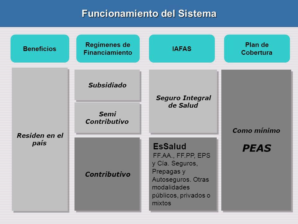 EsSalud FF.AA., FF.PP, EPS y Cía.Seguros, Prepagas y Autoseguros.