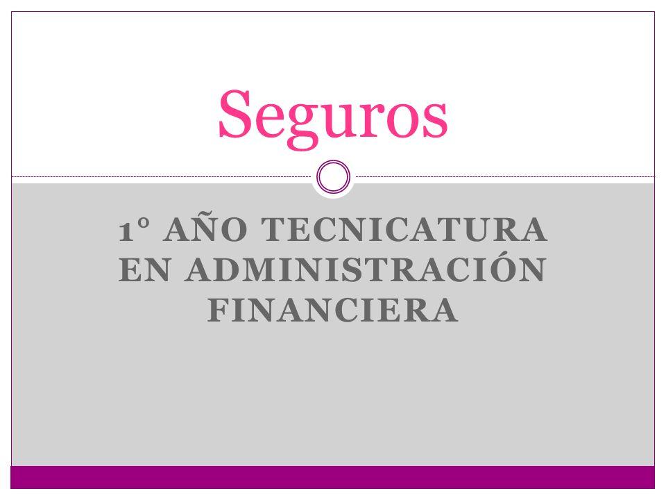1° AÑO TECNICATURA EN ADMINISTRACIÓN FINANCIERA Seguros