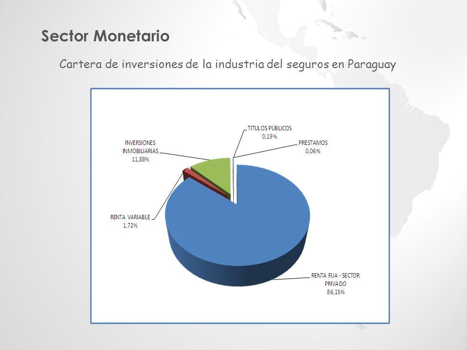 Sector Monetario Cartera de inversiones de la industria del seguros en Paraguay