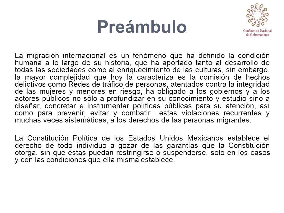 Preámbulo La migración internacional es un fenómeno que ha definido la condición humana a lo largo de su historia, que ha aportado tanto al desarrollo