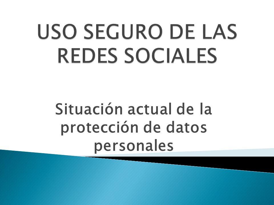 Situación actual de la protección de datos personales