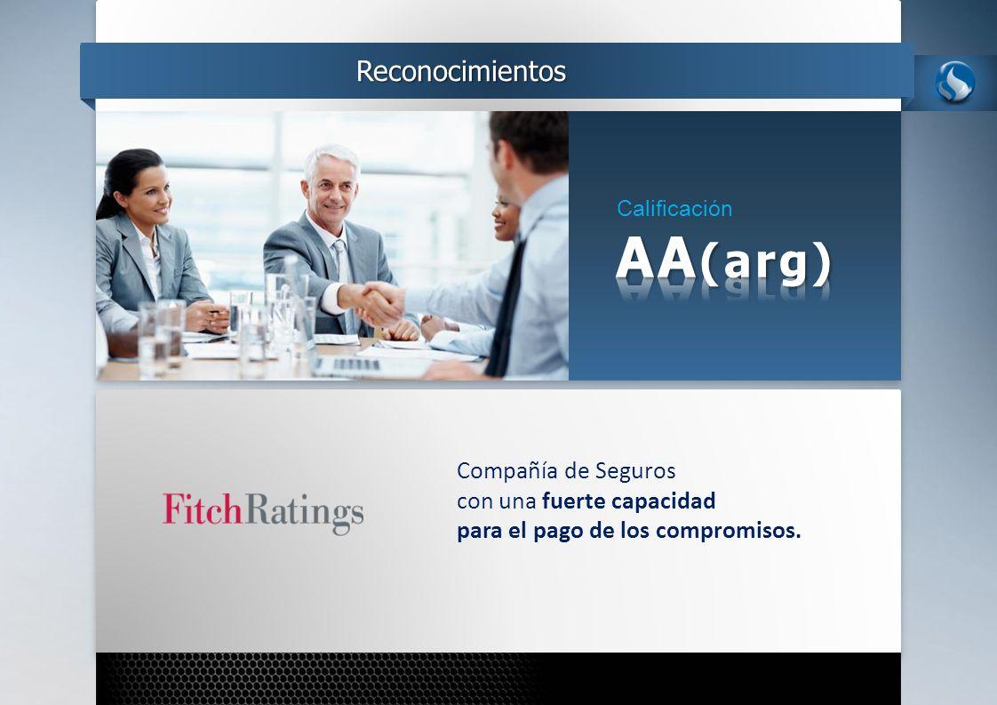 Calificación Reconocimientos Compañía de Seguros con una fuerte capacidad para el pago de los compromisos.