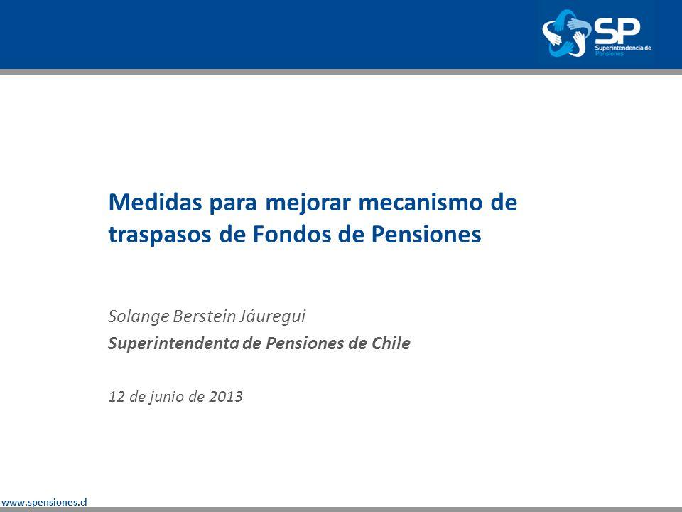 www.spensiones.cl Los Fondos de Pensiones tienen como objetivo financiar pensiones siendo por ello una inversión de largo plazo.