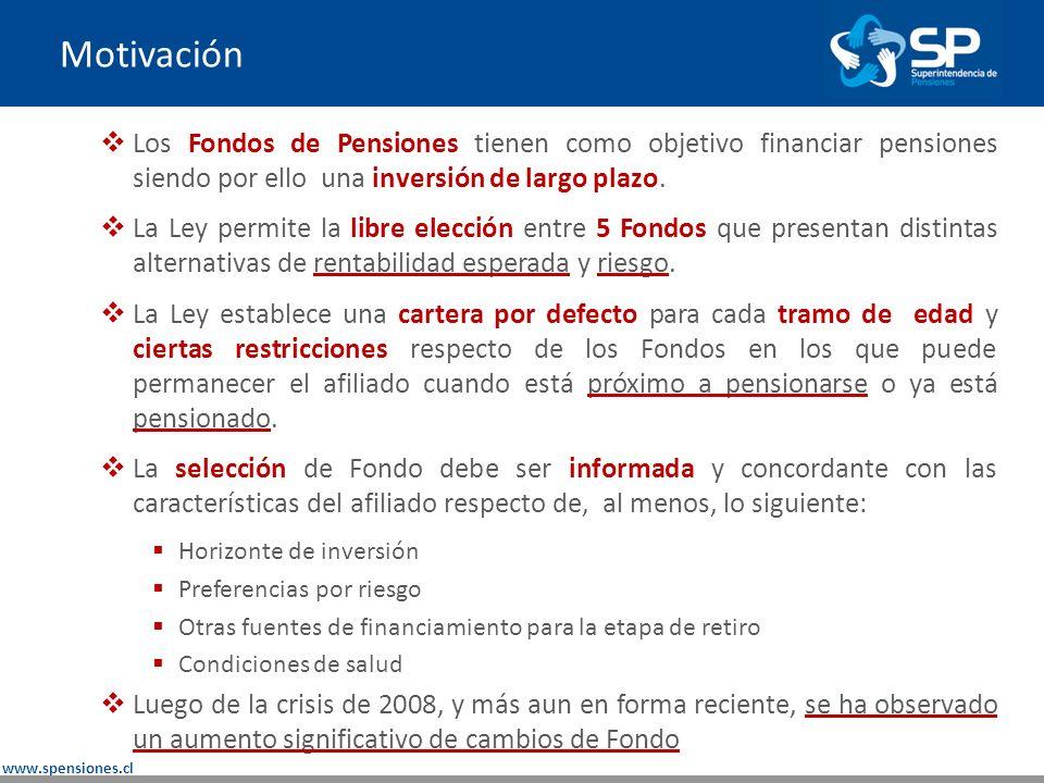 www.spensiones.cl Nota Técnica Documento presenta algunos fundamentos de la operación de los multifondos y contextualiza los traspasos.