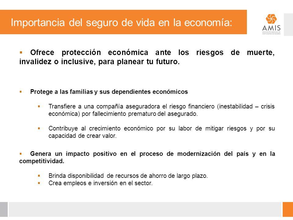 Importancia del seguro de vida en la economía: Ofrece protección económica ante los riesgos de muerte, invalidez o inclusive, para planear tu futuro.