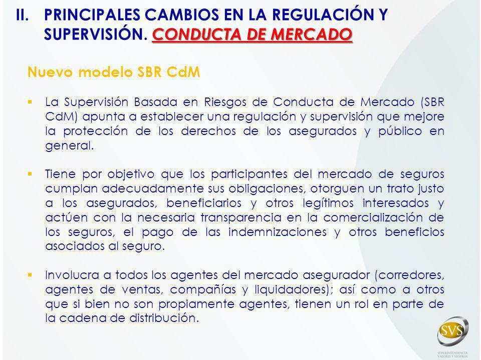 Nuevo modelo SBR CdM La Supervisión Basada en Riesgos de Conducta de Mercado (SBR CdM) apunta a establecer una regulación y supervisión que mejore la