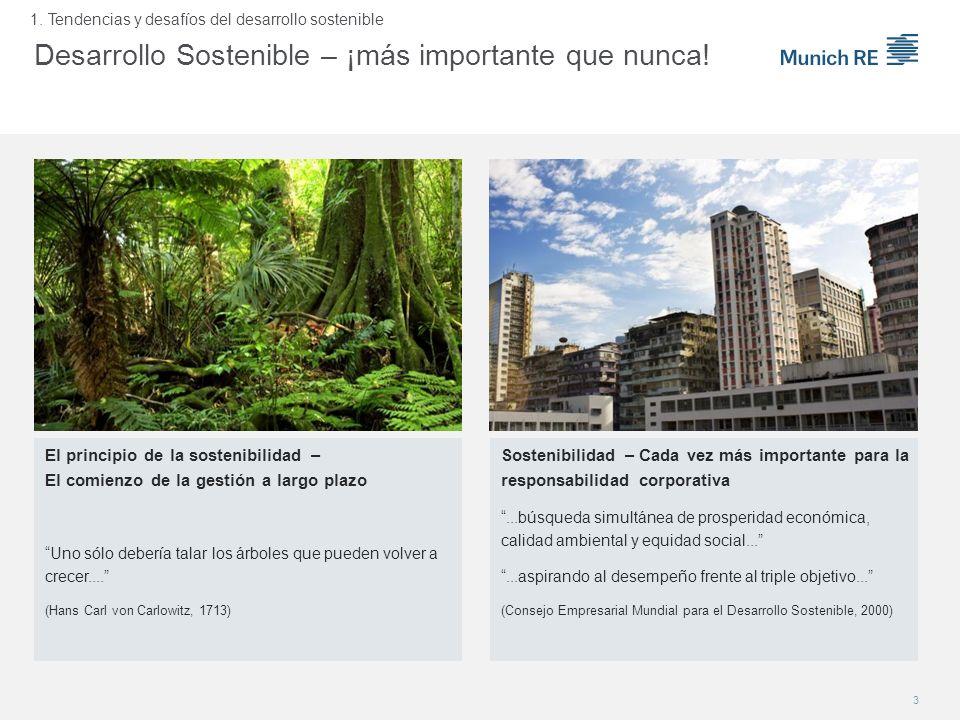 Sostenibilidad – Cada vez más importante para la responsabilidad corporativa...búsqueda simultánea de prosperidad económica, calidad ambiental y equid