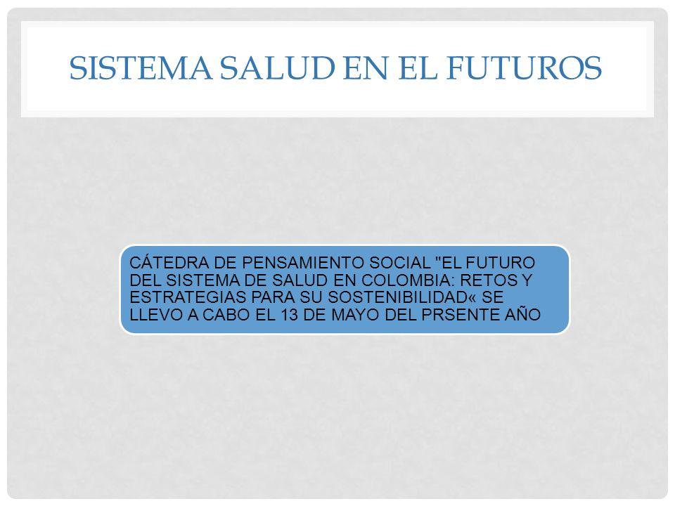 SISTEMA SALUD EN EL FUTUROS CÁTEDRA DE PENSAMIENTO SOCIAL