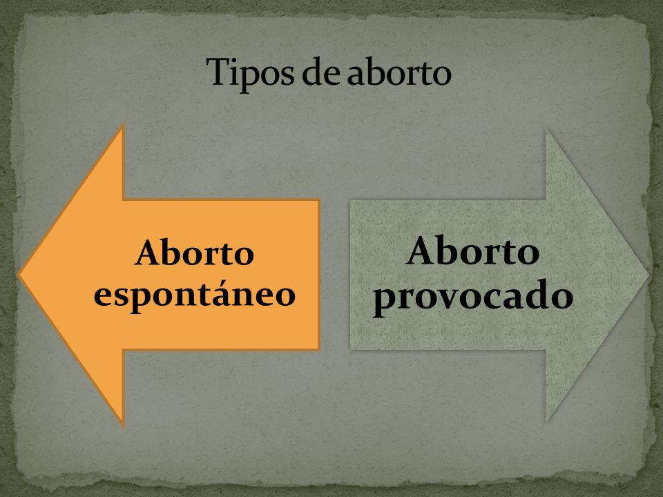 Aborto espontáneo Aborto provocado
