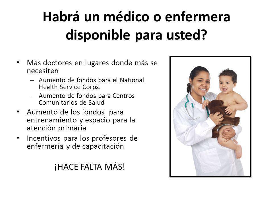 Habrá un médico o enfermera disponible para usted? Más doctores en lugares donde más se necesiten – Aumento de fondos para el National Health Service