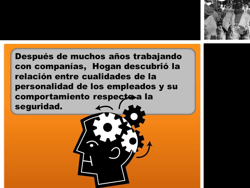 Después de muchos años trabajando con companías, Hogan descubrió la relación entre cualidades de la personalidad de los empleados y su comportamiento