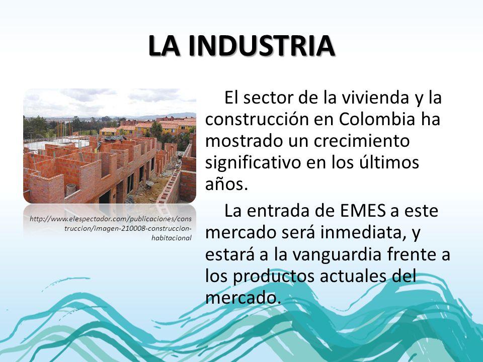 LA INDUSTRIA El sector de la vivienda y la construcción en Colombia ha mostrado un crecimiento significativo en los últimos años. La entrada de EMES a