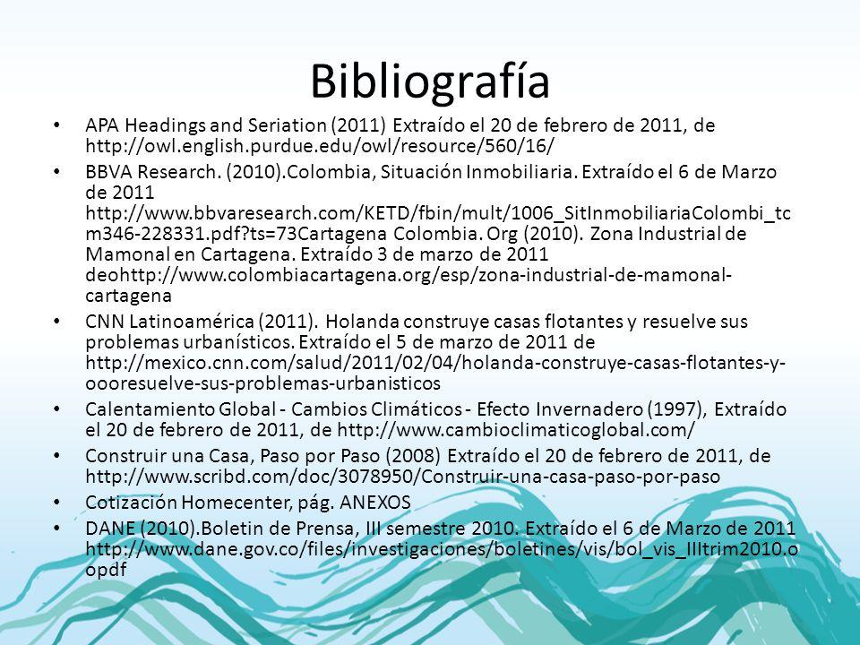 Bibliografía APA Headings and Seriation (2011) Extraído el 20 de febrero de 2011, de http://owl.english.purdue.edu/owl/resource/560/16/ BBVA Research.