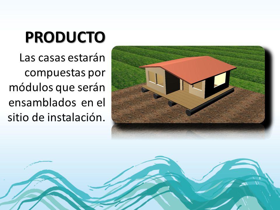 PRODUCTO Las casas estarán compuestas por módulos que serán ensamblados en el sitio de instalación.