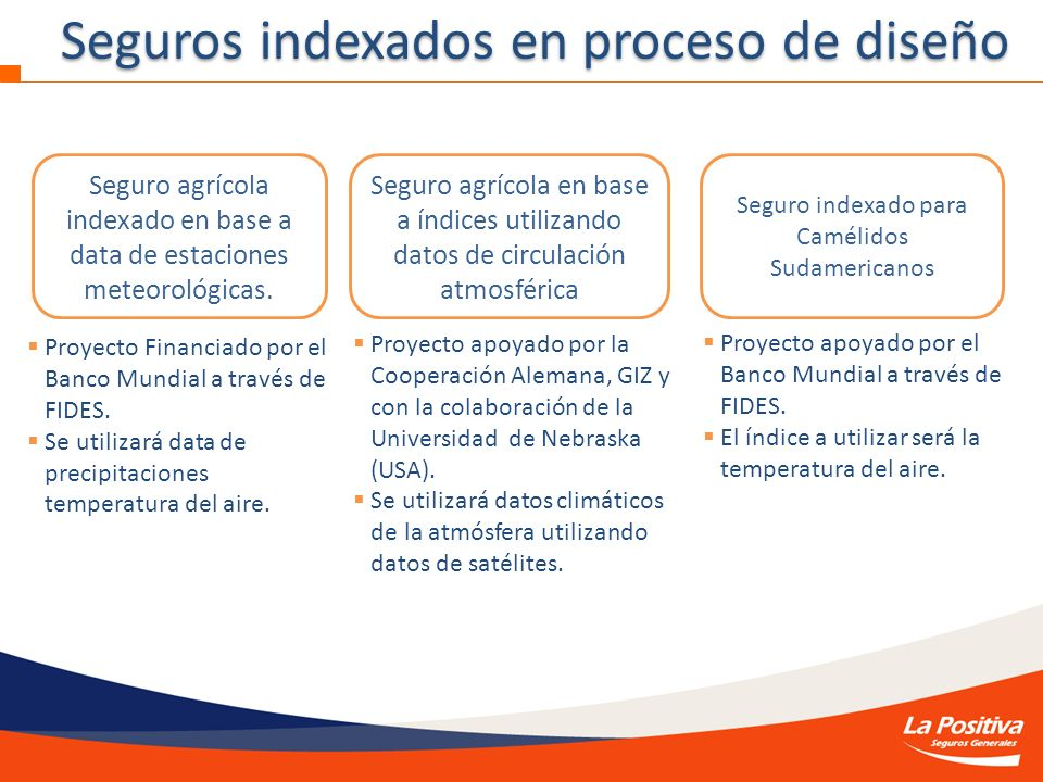 Seguro agrícola indexado en base a data de estaciones meteorológicas.