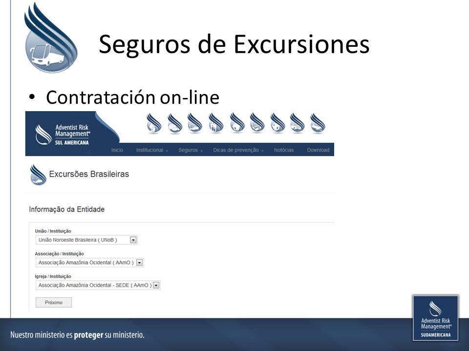 Seguros de Excursiones Contratación on-line