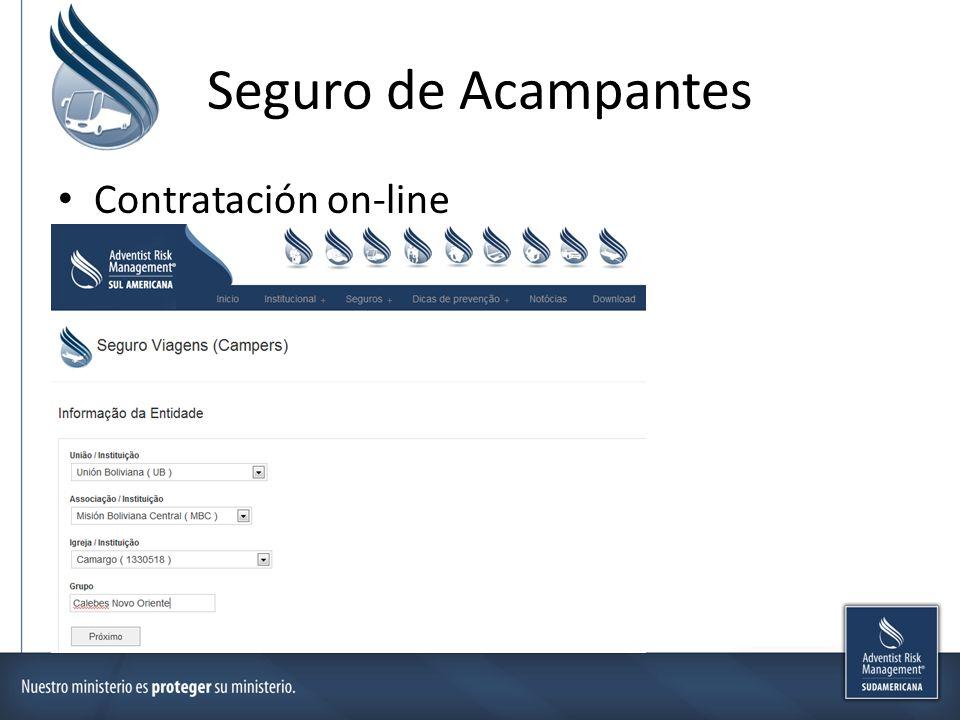 Seguro de Acampantes Contratación on-line
