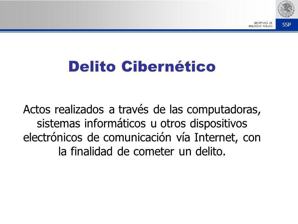 SSP SECRETARÍA DE SEGURIDAD PÚBLICA Actos realizados a través de las computadoras, sistemas informáticos u otros dispositivos electrónicos de comunica