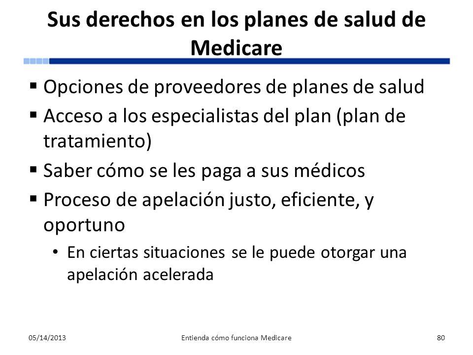Sus derechos en los planes de salud de Medicare Opciones de proveedores de planes de salud Acceso a los especialistas del plan (plan de tratamiento) S