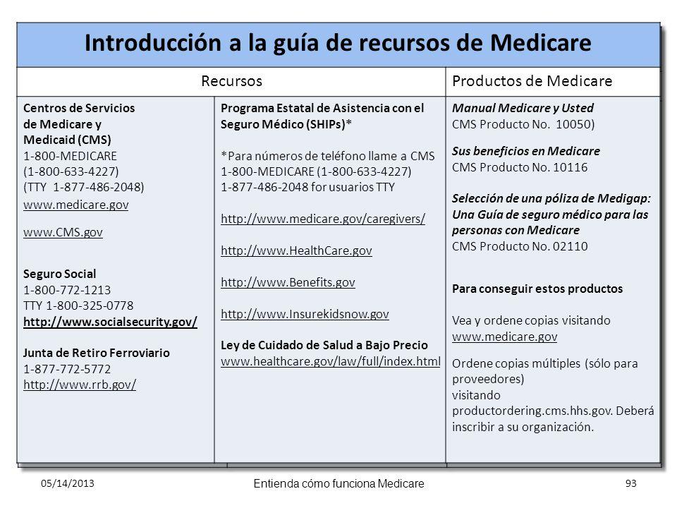 05/14/2013 Entienda cómo funciona Medicare 93