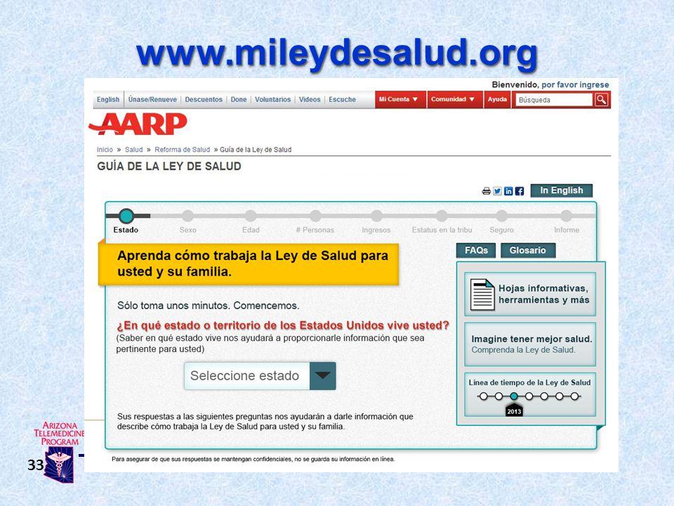 www.mileydesalud.orgwww.mileydesalud.org 33