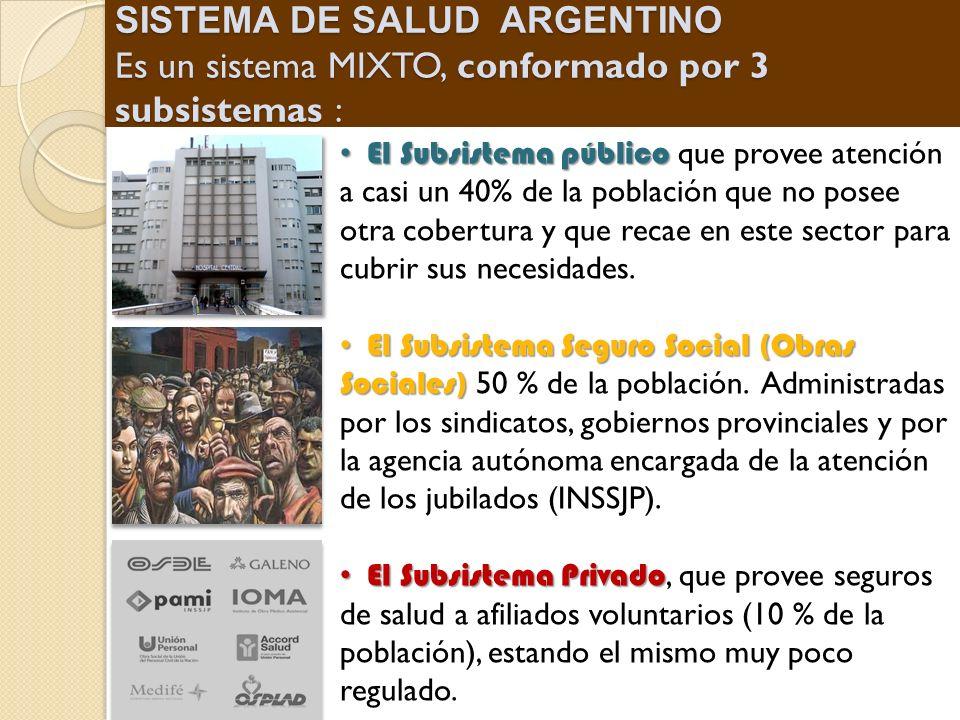 El Subsistema público El Subsistema público que provee atención a casi un 40% de la población que no posee otra cobertura y que recae en este sector p