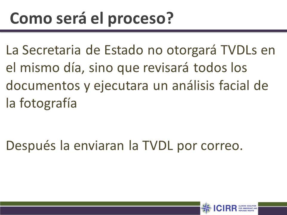 Como será el proceso? La Secretaria de Estado no otorgará TVDLs en el mismo día, sino que revisará todos los documentos y ejecutara un análisis facial