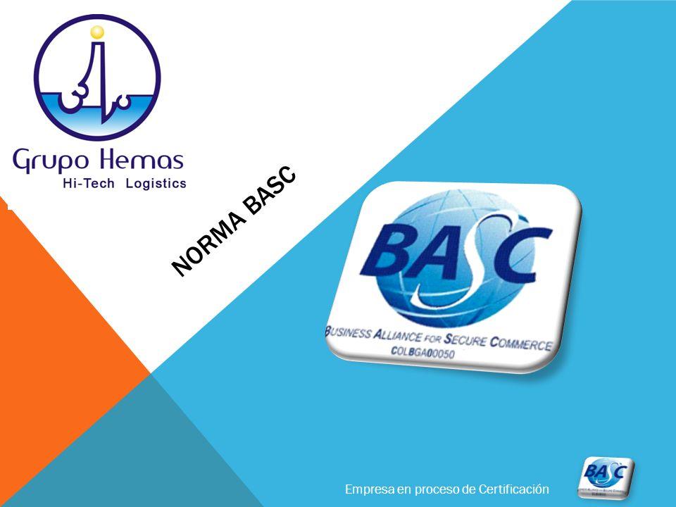 Empresa en proceso de Certificación NORMA BASC