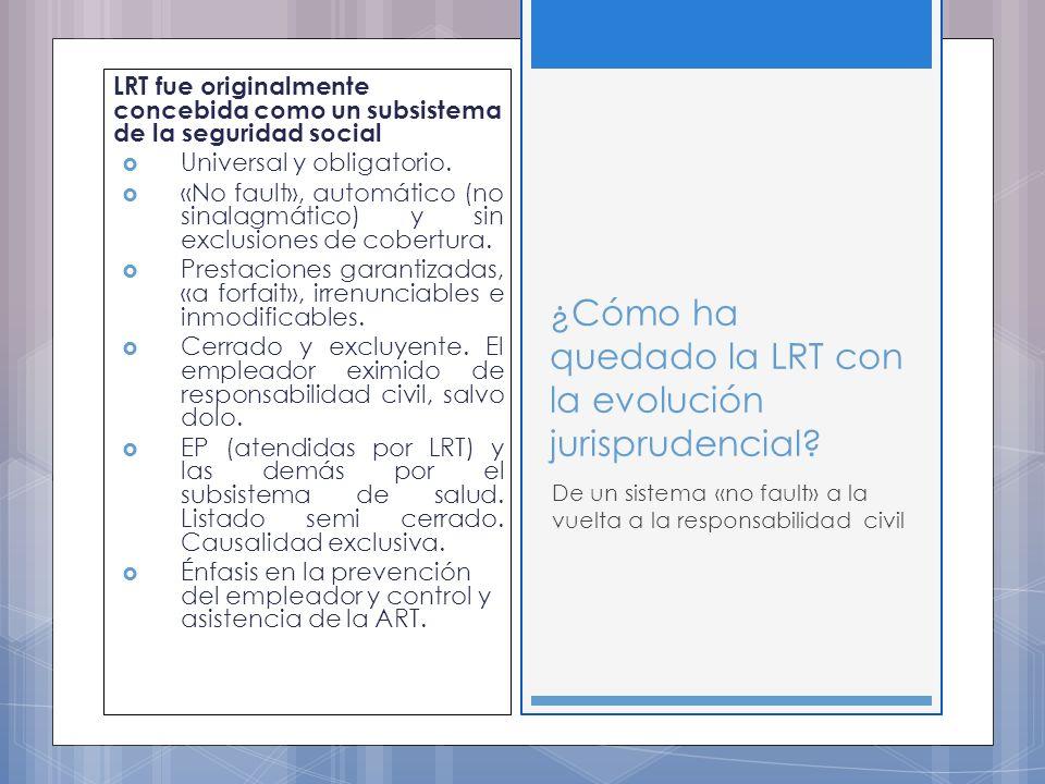 LRT fue originalmente concebida como un subsistema de la seguridad social Universal y obligatorio.