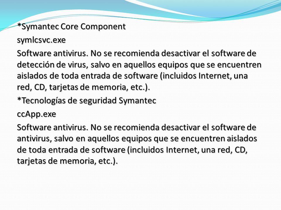 *Symantec Core Component symlcsvc.exe Software antivirus.