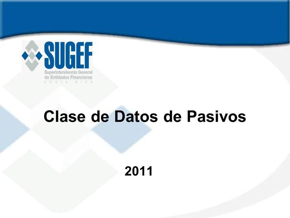 Clase de Datos de Pasivos 2011